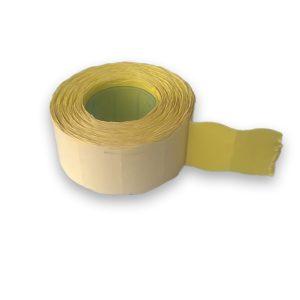 árazószalag 25x16 sárga